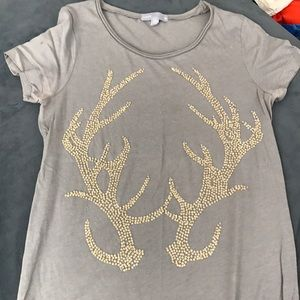 Jcrew antler beaded tee